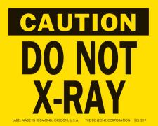 Caution Do Not X-Ray Labels
