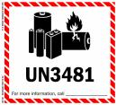 "4 1/2"" x  5"" IATA Dangerous Goods Label, Lithium Battery, UN3481"
