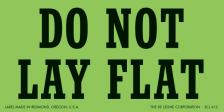 do not lay flat
