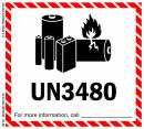 "4 1/2"" x  5"" IATA Dangerous Goods Label, Lithium Battery, UN3480"